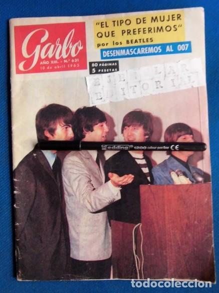 BEATLES REVISTA GARBO EJEMPLAR EDITORIAL ORIGINAL EPOCA ESPAÑA ABRIL 1965 COMPLETA EXCELENTE (Música - Revistas, Manuales y Cursos)