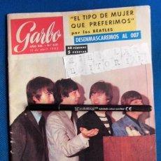 Revistas de música: BEATLES REVISTA GARBO EJEMPLAR EDITORIAL ORIGINAL EPOCA ESPAÑA ABRIL 1965 COMPLETA EXCELENTE. Lote 276257878