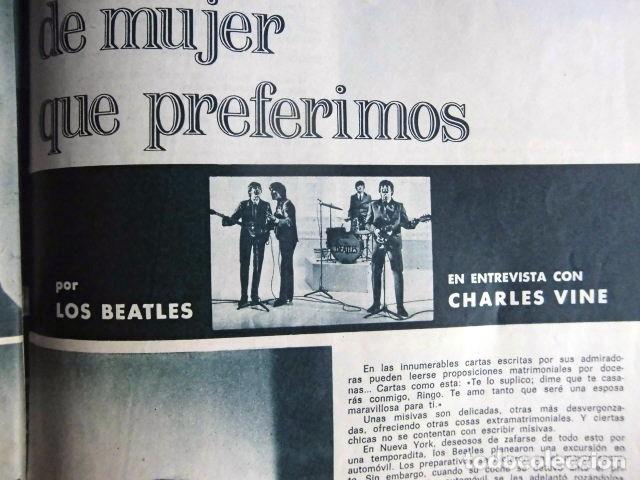 Revistas de música: BEATLES REVISTA GARBO EJEMPLAR EDITORIAL ORIGINAL EPOCA ESPAÑA ABRIL 1965 COMPLETA EXCELENTE - Foto 7 - 276257878