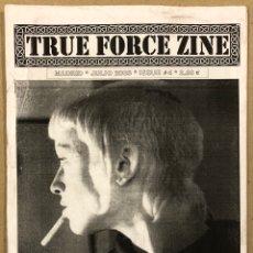 Revistas de música: TRUE FORCE ZINE N° 4 (MADRID 2005). FANZINE ORIGINAL; SKINZINE: KORTATU, PERKELE, SLACKERS, HELL BEE. Lote 276689893