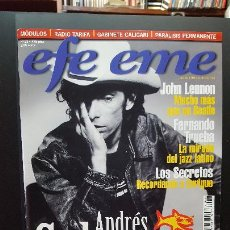 Revistas de música: REVISTA EFE EME ANDRES CALAMARO EN PORTADA Nº 23 - NOVIEMBRE 2000. PDELUXE. Lote 276701878
