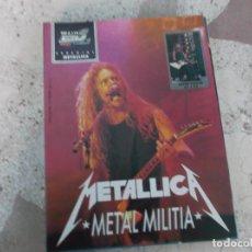 Magazines de musique: POULAR 1, ESPECIAL 110, POSTER 81 X 54, METALLICA , METAL MILITIA. Lote 276785263