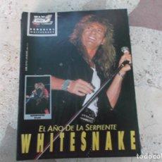 Magazines de musique: POULAR 1, ESPECIAL 101, POSTER 81 X 54, WHITESNAKE,. Lote 276787173