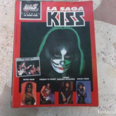 Magazines de musique: POULAR 1, ESPECIAL 108, POSTER 81 X 54, LA SAGA KISS. Lote 276788498