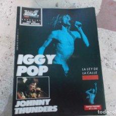 Magazines de musique: POULAR 1, ESPECIAL 111, POSTER 81 X 54, IGGY POP, JOHNNY THUNDERS. Lote 276789123