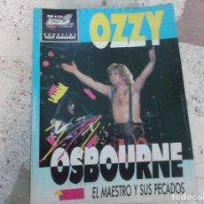 Magazines de musique: POULAR 1, ESPECIAL 93, POSTER 81 X 54, OZZY OSBOURNE, EL MAESTRO Y SUS PECADOS. Lote 276789758