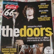 Revistas de música: RUTA 66 REVISTA 394 THE DOORS JACKSON BROWNE MIGUEL RÍOS LOS LOBOS. Lote 277166568