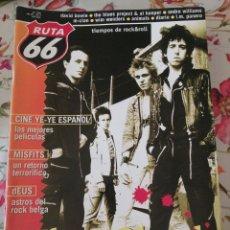Revistas de música: RUTA 66 REVISTA 155 THE CLASH DAVID BOWIE M-CLAN ANIMALS MISFITS. Lote 277169228