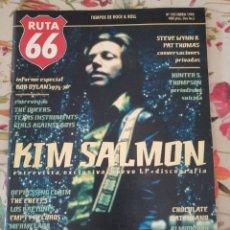Revistas de música: RUTA 66 REVISTA 102 KIM SALMÓN BOB DYLAN LOS BRETONES MERMELADA. Lote 277171298