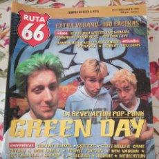 Revistas de música: RUTA 66 REVISTA 97 GREEN DAY ULTRAVOX VIOLENT FEMMES LOS CANARIOS. Lote 277172488