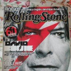 Revistas de música: ROLLING STONE REVISTA 86 DAVID BOWIE JERRY LEE LEWIS. Lote 277184198