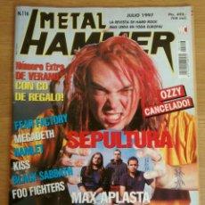 Revistas de música: METAL HAMMER 116 JULIO 1997 SEPULTURA FEAR FACTORY RITCHIE BLACKMORE FOO FIGHTERS HAMLET MEGADETH. Lote 277689163