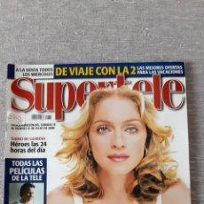 """Revistas de música: REVISTA """"SUPERTELE"""" MADONNA. Lote 278202748"""