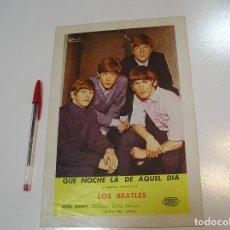 Revistas de música: THE BEATLES QUE NOCHE LA DE AQUEL DIA: FICHA TECNICA DE FILMAYER 1964 BUEN ESTADO VER FOTOS. Lote 278757628