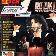 Revistas de música: REVISTA POPULAR 1 NUMERO 211 ROCK IN RIO II. Lote 280121283