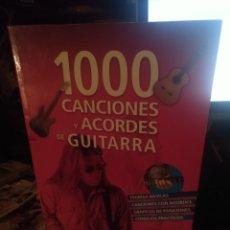 Revistas de música: 1000 CANCIONES Y ACORDES DE GUITARRA. SERVILIBRO. Lote 280125953