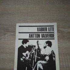Revistas de música: XABIER LETE - ANTTON VALVERDE / MANUEL LEKUONAREN OMENEZ. Lote 282492458