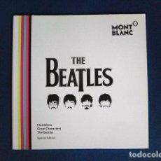 Revistas de música: BEATLES FOLLETO ORIGINAL MONTBLANC PLUMA CONMEMORATIVA NUEVO DESCATALOGADO PROMOCION. Lote 285980688