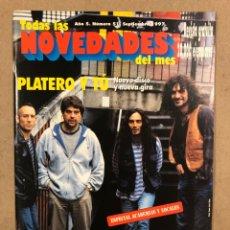 Magazines de musique: TODAS LAS NOVEDADES DEL MES N° 51 (1997). PLATERO Y TÚ, LOQUILLO, PLACEBO, ROGER HODSON,... Lote 286317783