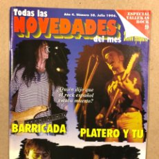 Riviste di musica: TODAS LAS NOVEDADES DEL MES N° 38 (1996). ESPECIAL ROCK ESPAÑOL (BARRICADA, PLATERO,…), LOQUILLO. Lote 286323603