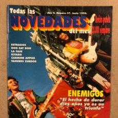 Magazines de musique: TODAS LAS NOVEDADES DEL MES N° 37 (1996). LOS ENEMIGOS, ESTRAGOS, LA FASE, PLATERO Y TÚ. Lote 286324238