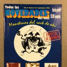 Riviste di musica: TODAS LAS NOVEDADES DEL MES N° 27 (1995). LA POLLA, BURNING, EXTREMODURO, KOJON PRIETO, FOO FIGHTERS. Lote 286325368