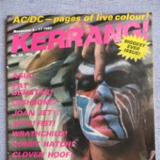 Magazines de musique: KERRANG :N.28-MARILLION-ASIA-PAT BENATAR-AC/DC-WRATCHILD-JOAN JETT-TWISTED SISTER. Lote 287348238