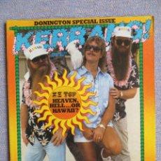 Magazines de musique: KERRANG :N.48-ZZ TOP-JOHN LORD-DIO-METALLICA-BLACK SABBATH-RORY GALLAGHER. Lote 287353678
