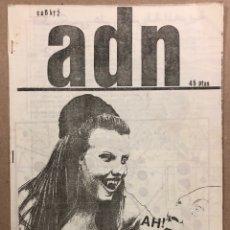 Magazines de musique: ADN EXTRA N° 2 (SAN SEBASTIÁN 1983). HISTÓRICO FANZINE ORIGINAL; DERRIBOS ARIAS, DISEÑO CORBUSIER,... Lote 287356038