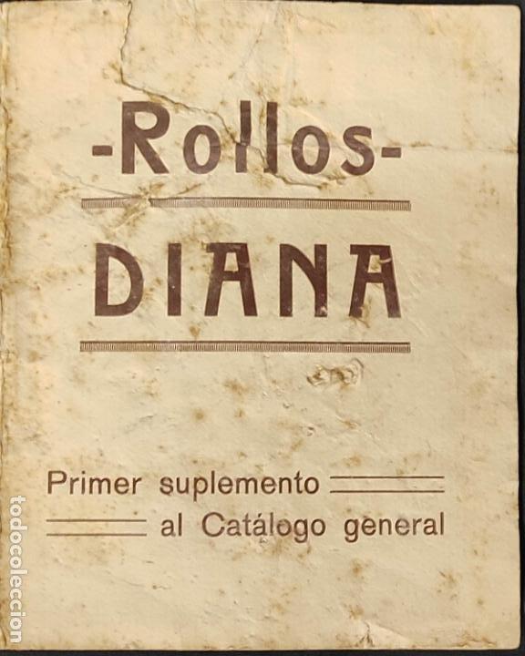 1925 CATALOGO - ROLLOS DIANA DE MUSICA PERFORADA ADAPTABLE A PIANOS - UMECA S.A. - MADRID - (Música - Revistas, Manuales y Cursos)