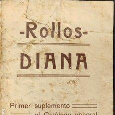 Revistas de música: 1925 CATALOGO - ROLLOS DIANA DE MUSICA PERFORADA ADAPTABLE A PIANOS - UMECA S.A. - MADRID -. Lote 287667738