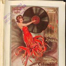Magazines de musique: 1924 CATALOGO GENERAL DE DISCOS DOBLES MARCA REGAL - COLUMBIA GRAMOPHONE COMPANY -. Lote 287670653