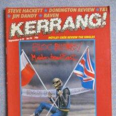 Revistas de música: KERRANG :N.76-IRON MAIDEN-W.A.S.P.-MANOWAR-RAVEN-KISS-AC/DC. Lote 287783133