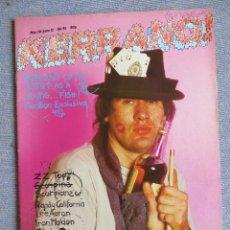 Revistas de música: KERRANG :N.95-MARILLION-SCORPIONS-ZZ TOP-IRON MAIDEN-LEE AARON-KROKUS-THOR. Lote 287932893