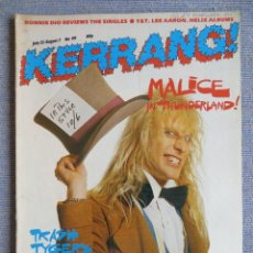 Revistas de música: KERRANG :N.99-MALICE-MOTORHEAD-BRUCE SPRINGSTEEN-MARILLION-WENDY O WILLIAMS. Lote 287936228