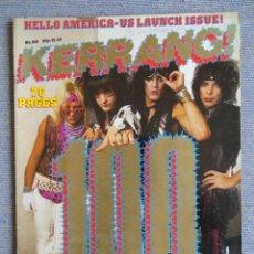 Revistas de música: KERRANG :N.100 !!-MOTLEY CRUE-VENOM-DIO-LED ZEPPELIN-BLACK SABBATH-SAXON-THE WHO. Lote 287936948