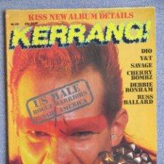 Revistas de música: KERRANG :N.101-ROGUE MALE-DIO-Y&T-DORO PESCH-SAVAGE. Lote 287938503