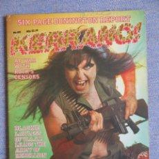 Revistas de música: KERRANG :N.102-W.A.S.P.-IRON MAIDEN-GARY MOORE-ZZTOP-METALLICA. Lote 287939003
