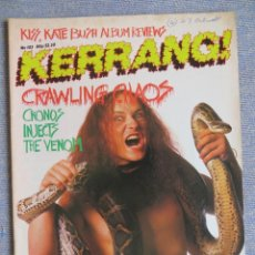 Revistas de música: KERRANG :N.103-VENOM-OZZY-VINNIE VINCENT-METALLICA-W.A.S.P.. Lote 287940118