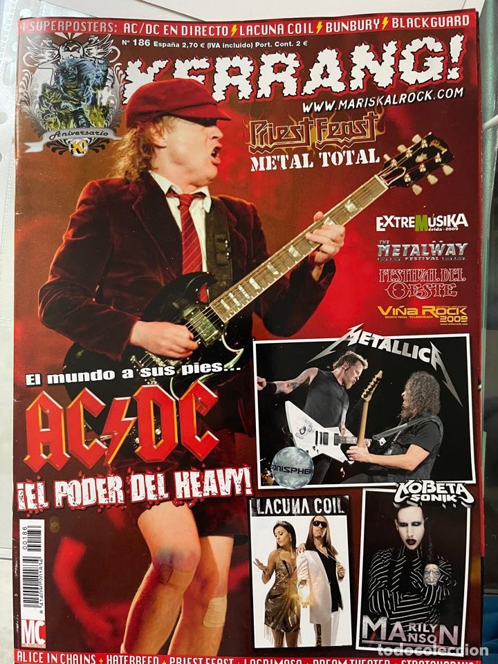 KERRANG 186 REVISTA AC/DC (FALTA POSTER BUNBURY/LACUNA COIL) (Música - Revistas, Manuales y Cursos)