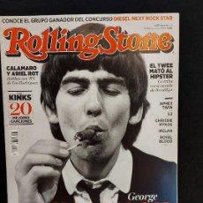 Revistas de música: ROLLING STONE / 180 / OCTUBRE 2014 / GEORGE HARRISON / INTERESANTES ARTÍCULOS.. Lote 288174333