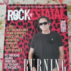 Revistas de música: ROCK ESTATAL 26 BURNING ROSENDO CALAMARO LA FUGA ARIEL ROT LEÑO MAGO DE OZ SUAVES EXTREMODURO. Lote 288197963