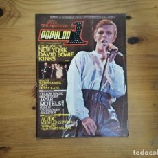 Revistas de música: POPULAR 1 - DAVID BOWIE, KINKS, AC/DC, BRUCE SPRINGSTEEN, MC5, LED ZEPPELIN. Lote 289250773