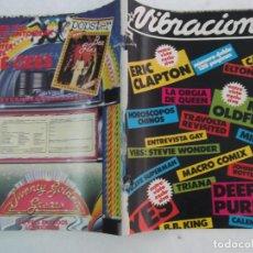 Revistas de música: VIBRACIONES Nº 51-52, VOBS STEVIE WONDER, CON CALENDARIO, DEEP PURPLE, YES, ERIC CLAPTON, SUPERMAN. Lote 289798433