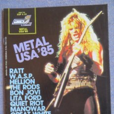 Riviste di musica: POPULAR 1 ESPECIAL:-METAL USA 85-W.A.S.P.-MANOWAR-TWISTED SISTER-RATT-..COMPLETA CON POSTER. Lote 293300203