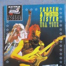 Riviste di musica: POPULAR 1 ESPECIAL:-N.78-TWISTED SISTER & TARZEN- COMPLETA CON POSTER GIGANTE!!!!!!!. Lote 293480313