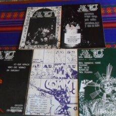 Revistas de música: AU APUNTES UNIVERSITARIOS 16 17 18 19 22. 1973. CON MÚSICOS DE LA ÉPOCA. COLEGIO MAYOR CHAMINADE.. Lote 294384538
