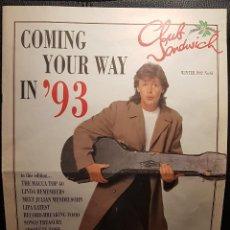 Revistas de música: PAUL MCCARTNEY - BEATLES - REVISTA OFICIAL CLUB SANDWICH - NUMERO 64 - 1992 - NO USO CORREOS. Lote 294385808