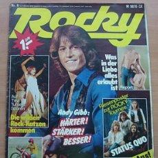Revistas de música: REVISTA ALEMANA ROCKY Nº6/1978 ANDY GIBB JAMES TAYLOR SEX PISTOLS ULTRAVOX TINA TURNER STAR WARS. Lote 294930633