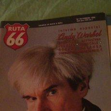 Revistas de música: RUTA 66 Nº 48. FEBRERO 1990. ANDY WARHOL, LOU REED, JOHN CALE, TRAFFIC, ROBERT GORDON, NIRVANA, SOUN. Lote 295433753